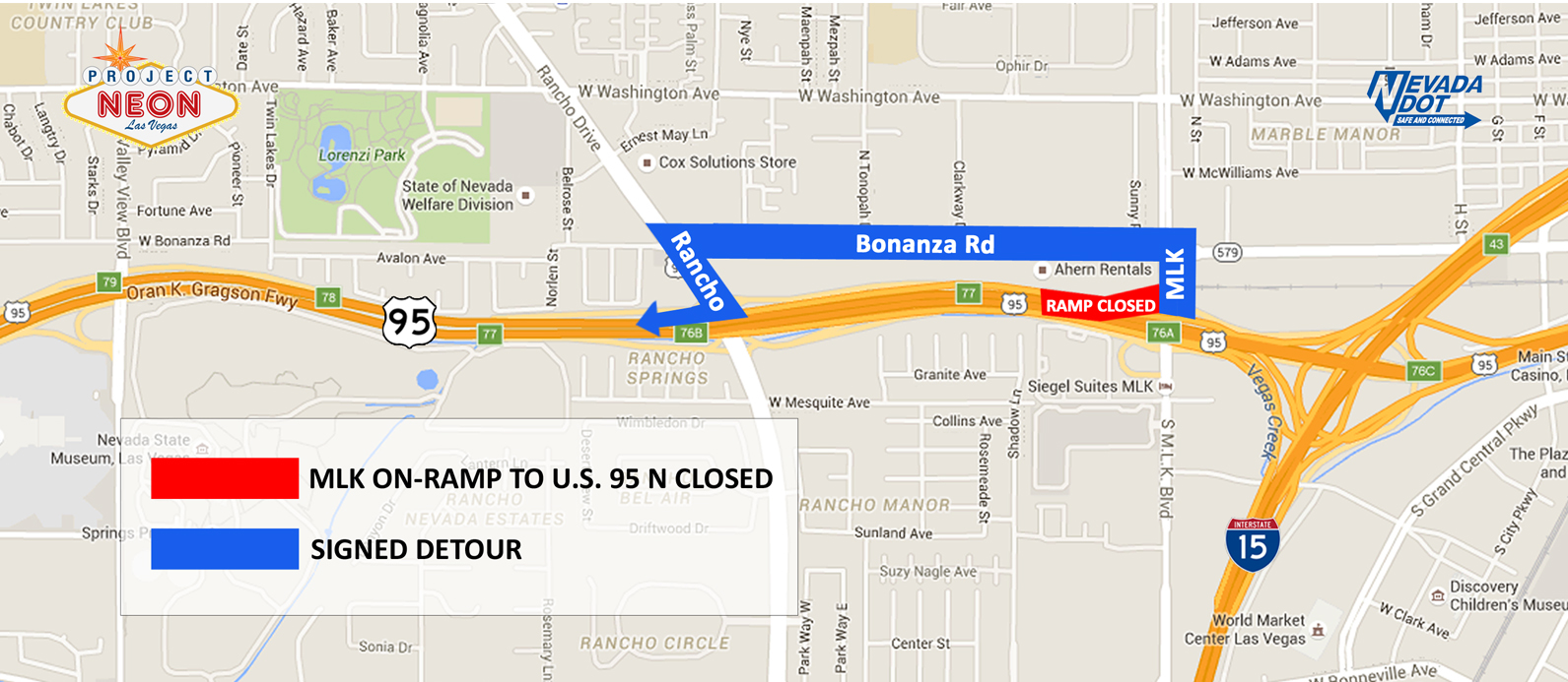MLK on-ramp closure detour map from flyer_FINAL_160829