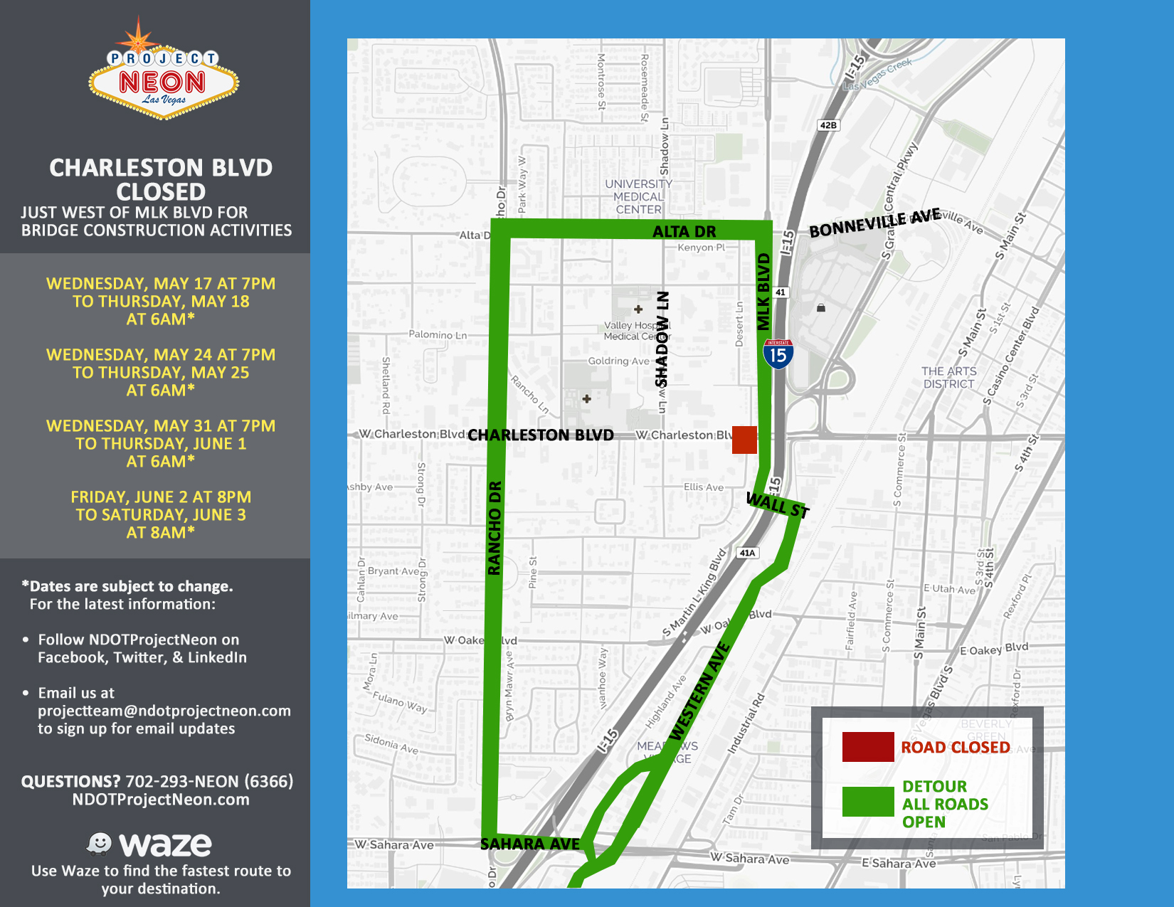Charleston full closures 5-17-17a