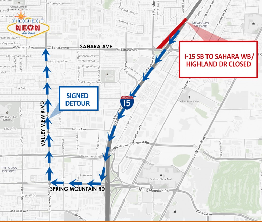 Sahara off-ramp closure for web_171013