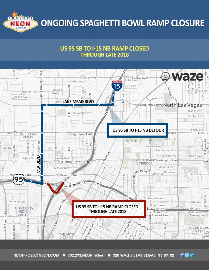 US 95 S to I-15 N continued closure