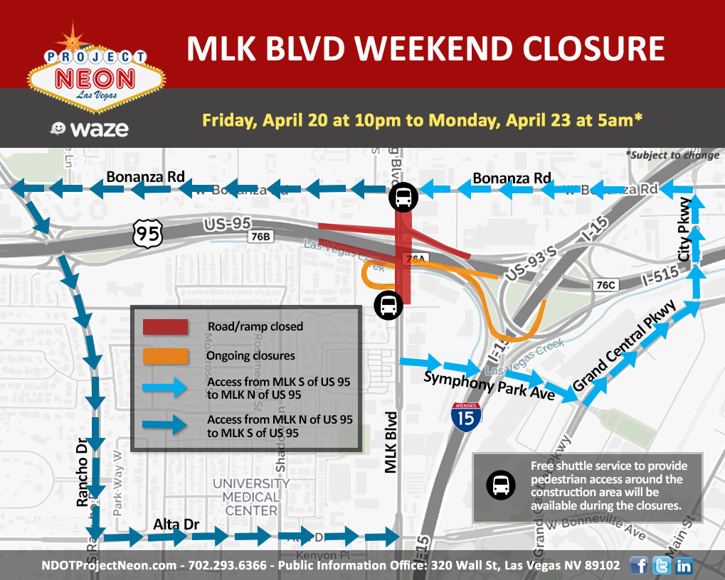MLK closures and detours 4-20