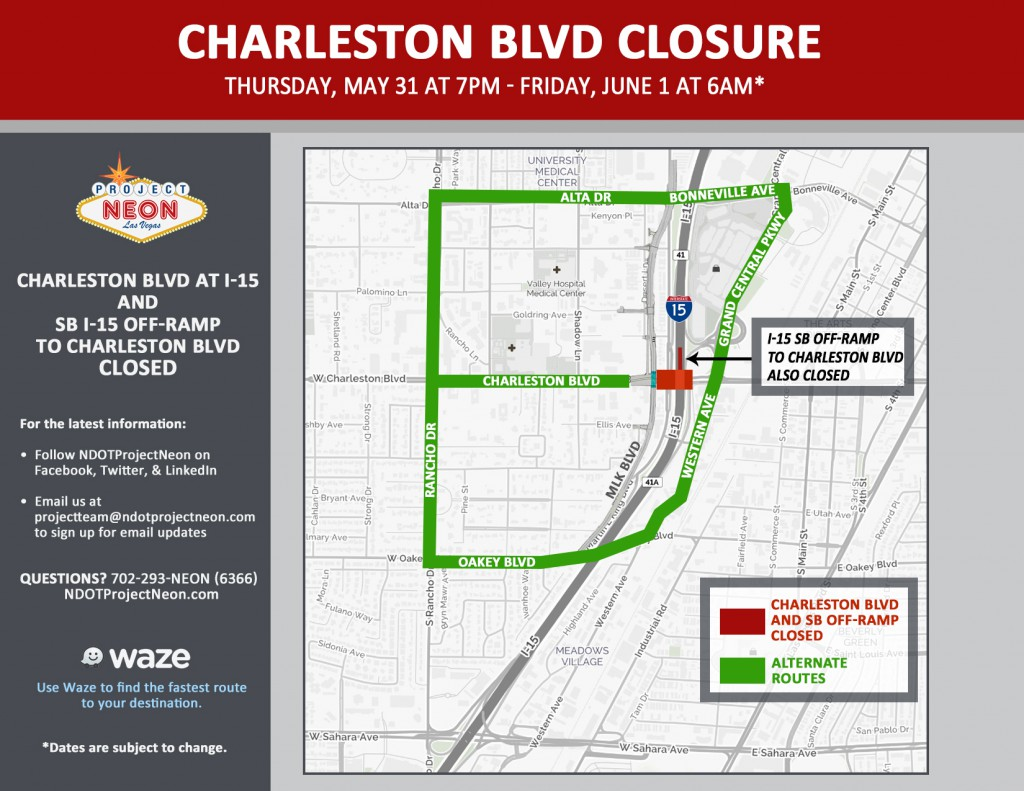 Charleston full closure 5-31
