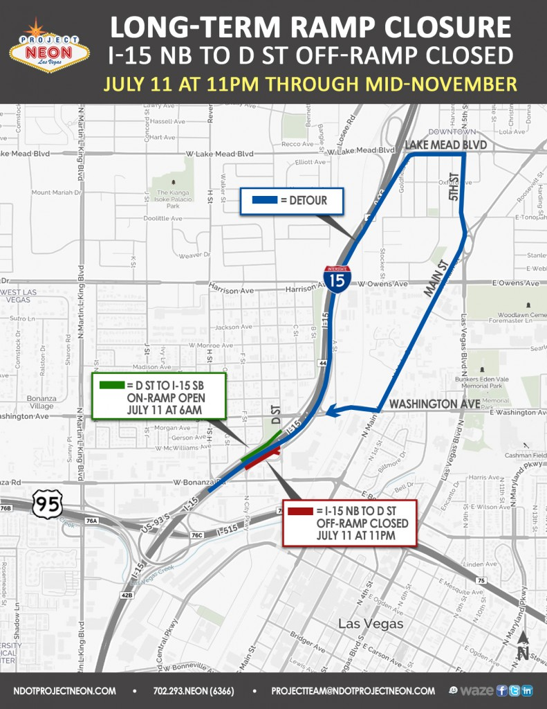 I-15 NB to D St off-ramp closure