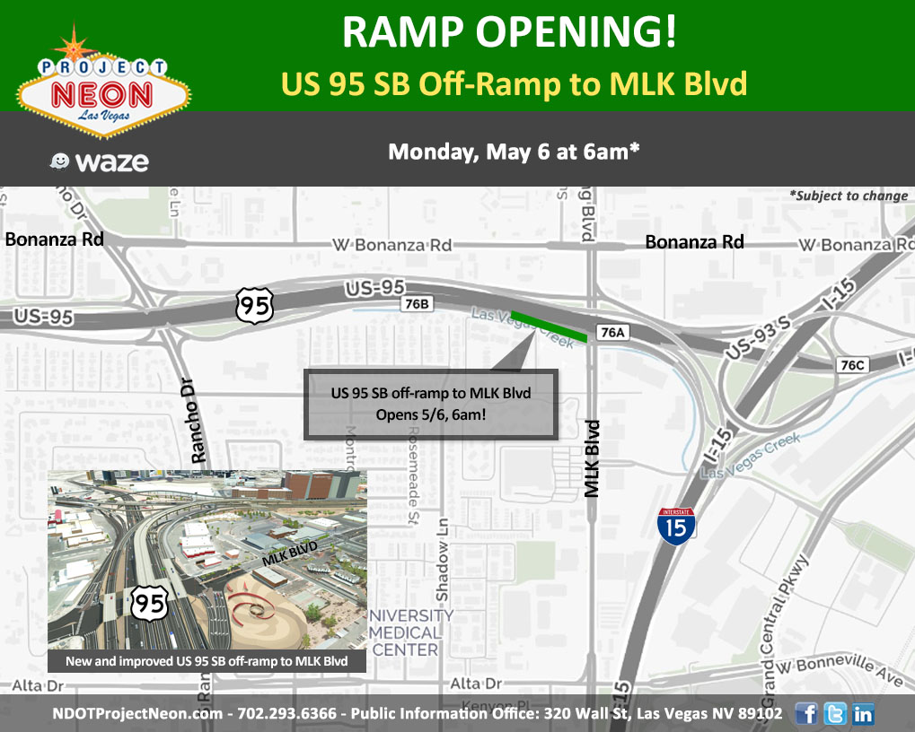 95 SB Off-Ramp to MLK OPENS